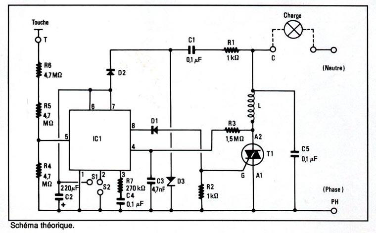 Schema Elettrico Per Dimmer : Schema variateur sensitif
